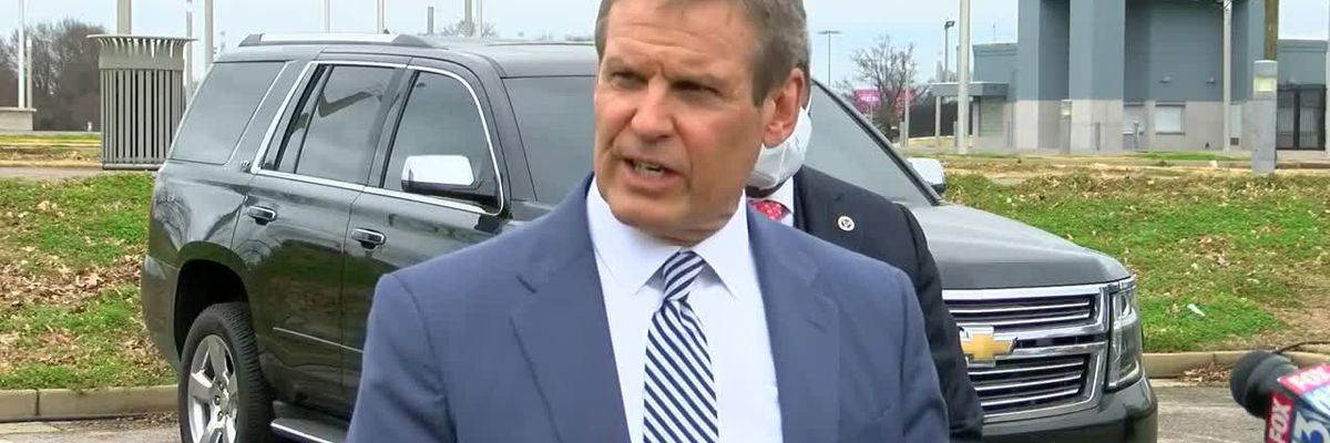 Gov. Bill Lee visits Memphis vaccine site after investigation into Shelby County vaccine mismanagement