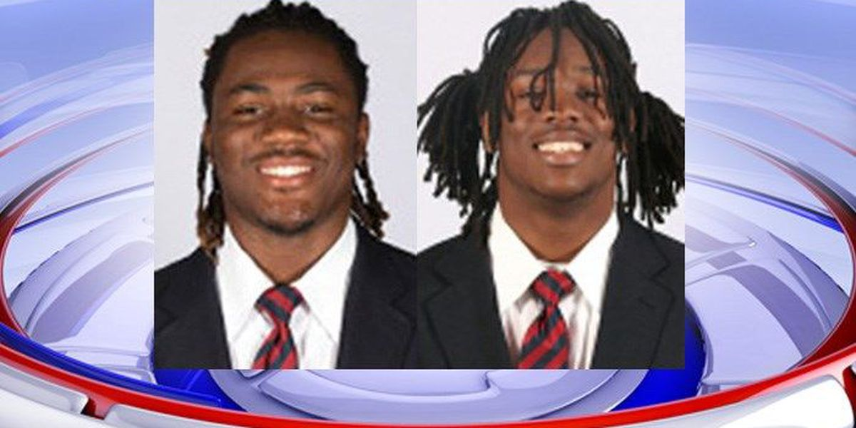 Two Ole Miss football players arrested, charged