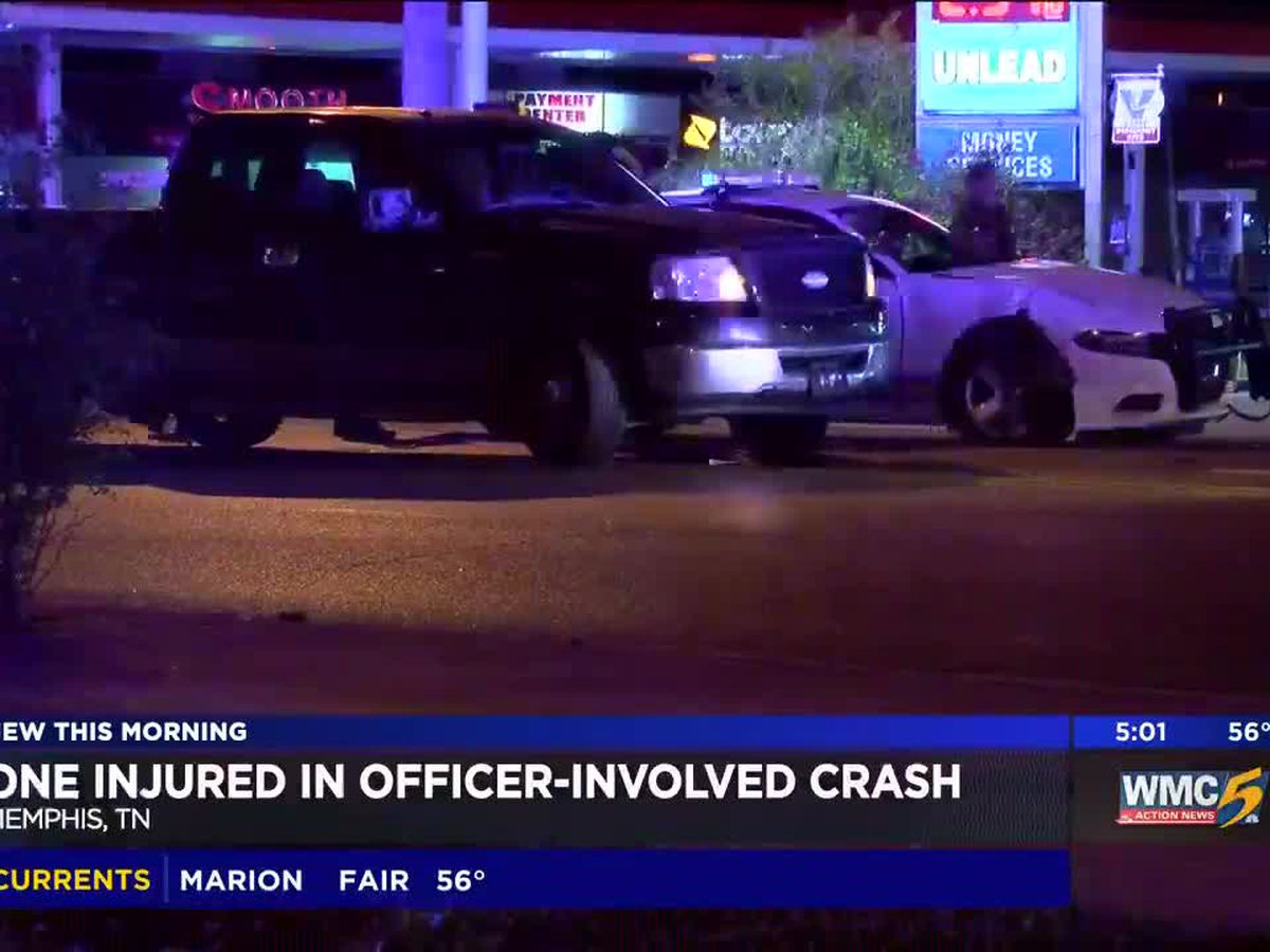 1 injured in officer-involved crash