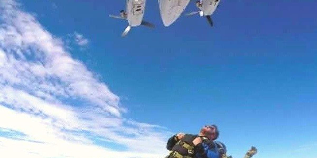 Wounded warrior, Southaven alderman skydives over Independence Day weekend