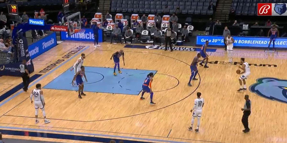 Grizzlies lose to Knicks at FedExForum