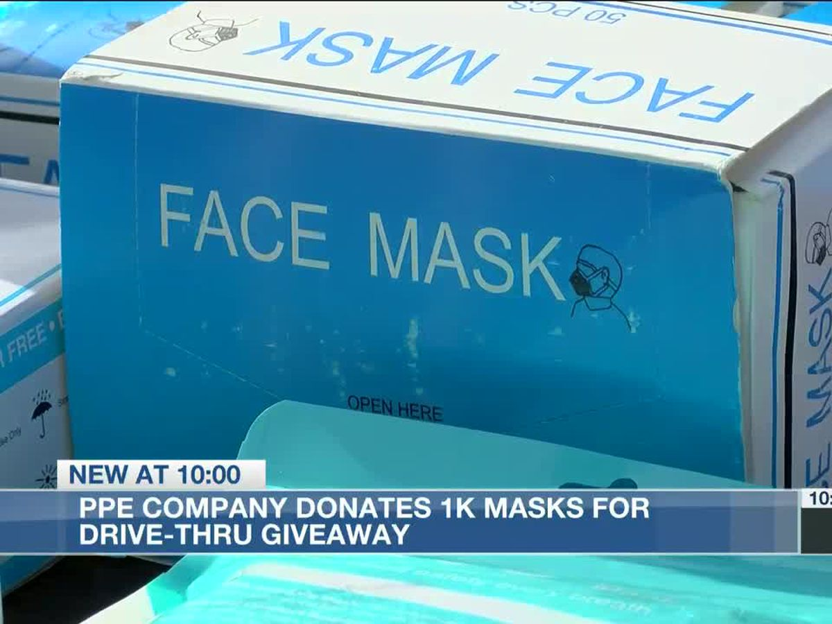 MLK Days of Service: PPE company donates 1,000 masks for drive-thru giveaway