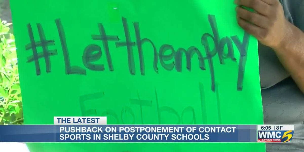 Pushback on postponement of contact sports in Shelby County Schools