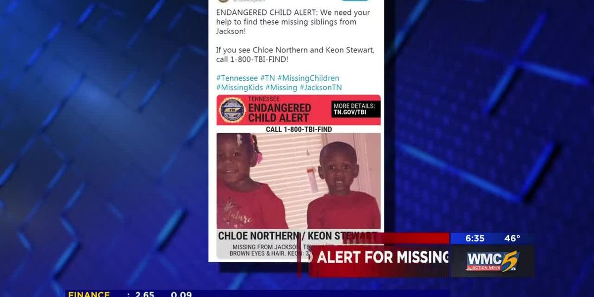 Siblings missing from West TN home may be in danger