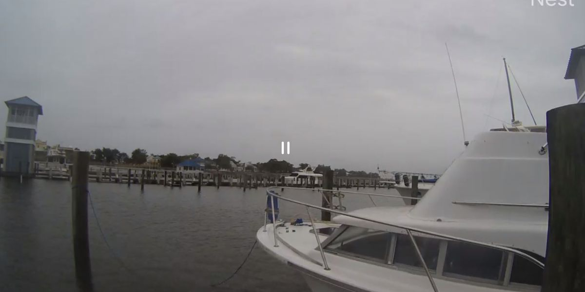 WATCH: Live storm cameras along the Mississippi Gulf Coast