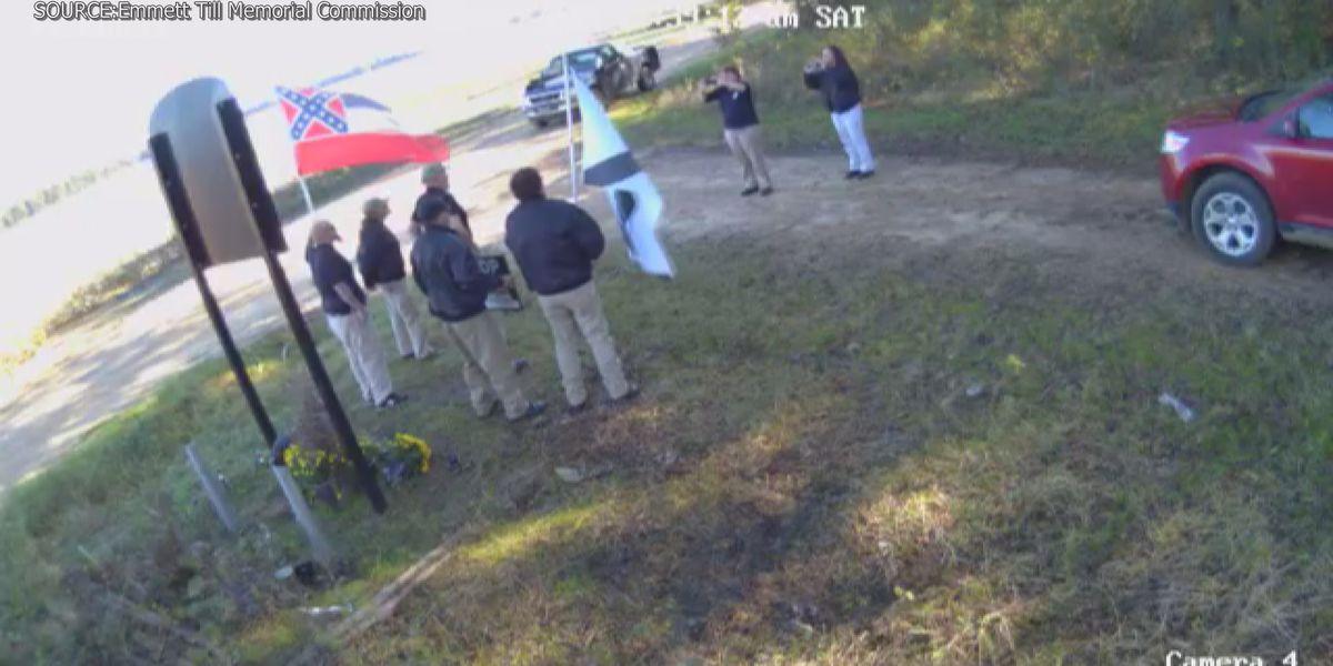 Surveillance video captures white supremacist group at Emmet Till memorial