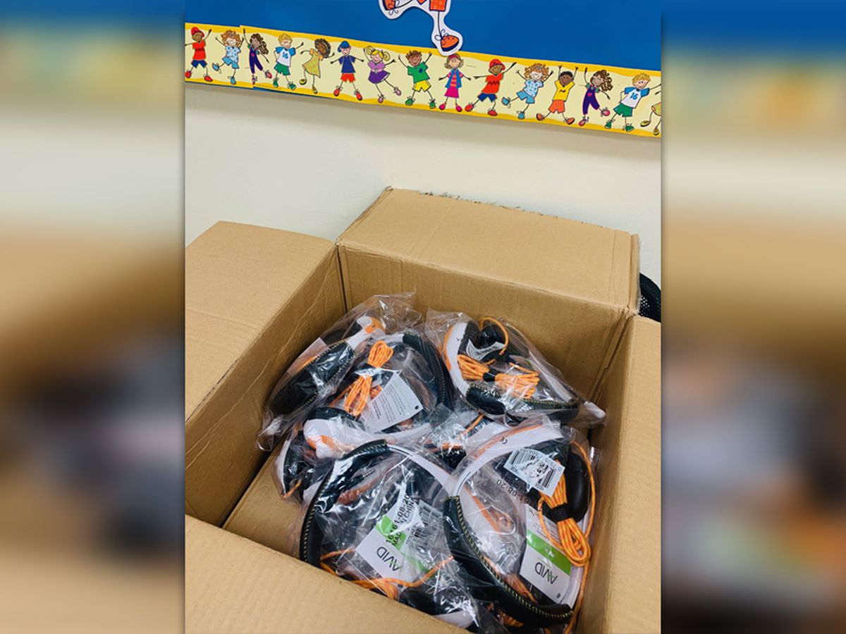 After community fundraiser, SCS students get first batch of headsets