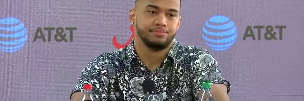 Tua Tagovailoa answers questions about declaring for the NFL Draft