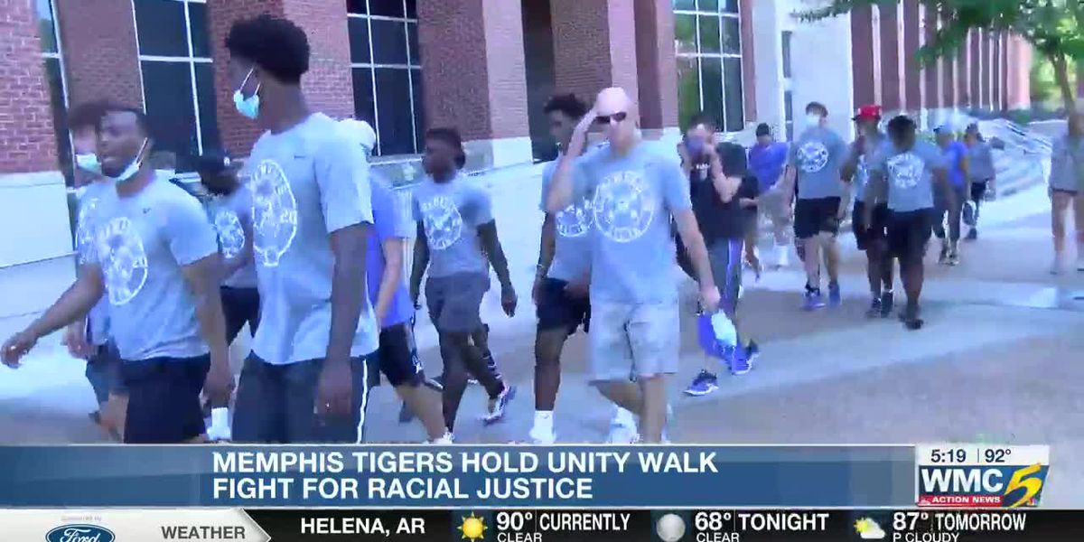 Memphis tigers hold Unity Walk in fight for racial justice
