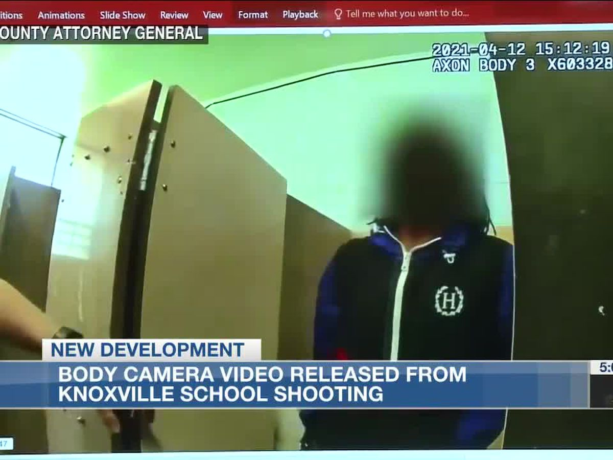 Video footage shows events of officer-involved shooting at Knoxville high school