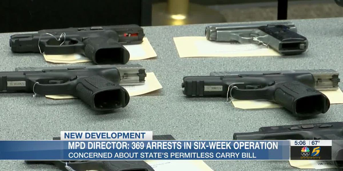 MPD director concerned about state's permitless carry bill; 369 arrests in six-week operation