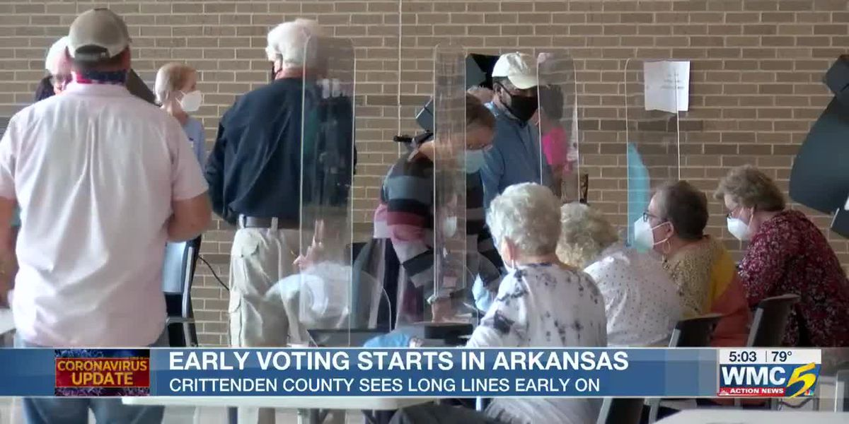 Crittenden County voters see long lines for kick-off Arkansas early voting