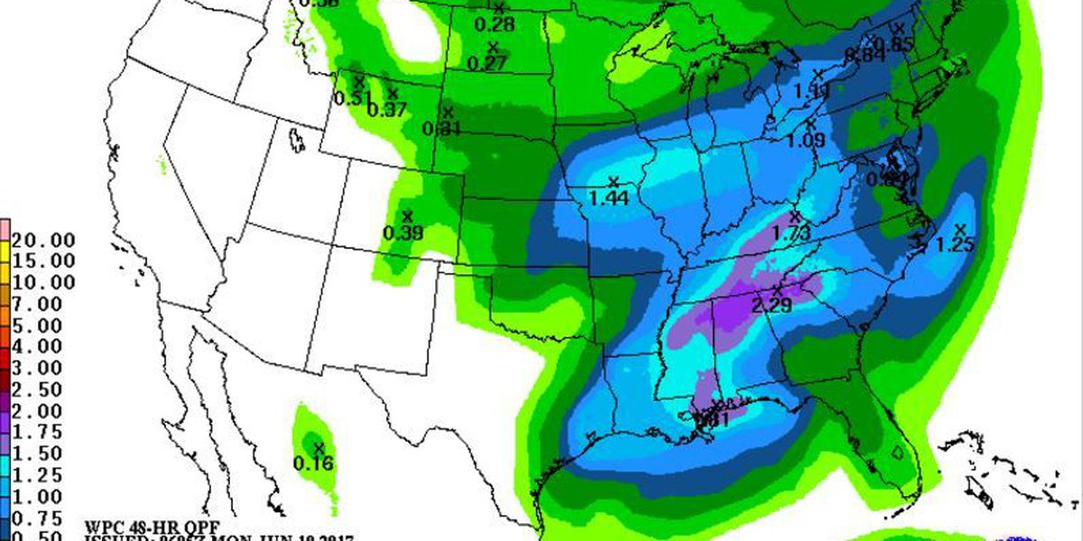 Tropical disturbance may impact Mid-South