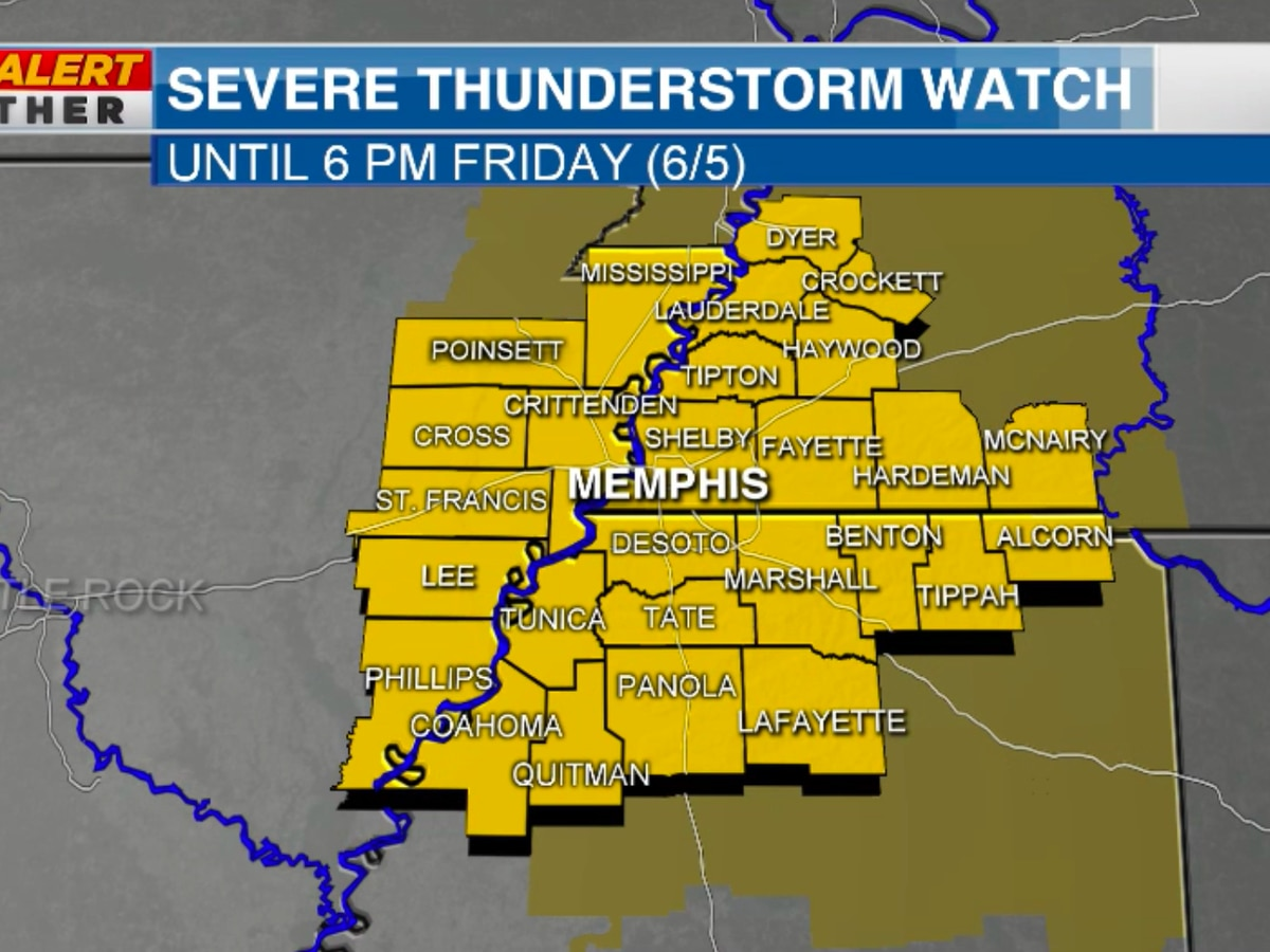 FIRST ALERT: Severe Thunderstorm Warning now active across Mid-South