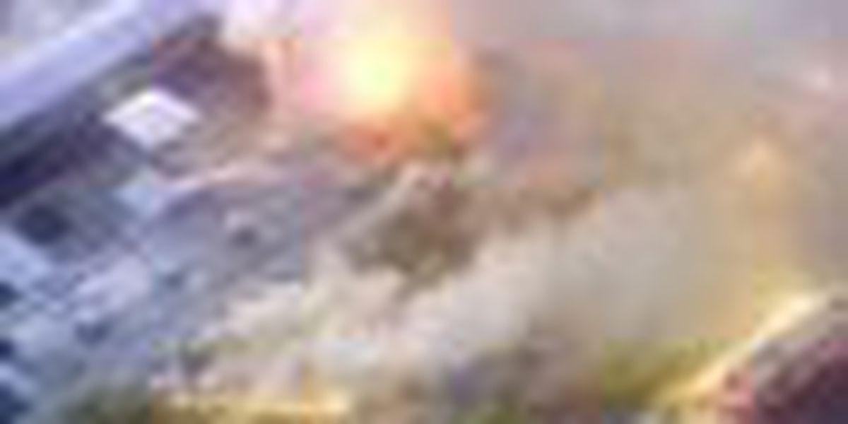 Large fire blazes at Florida's Gatorland