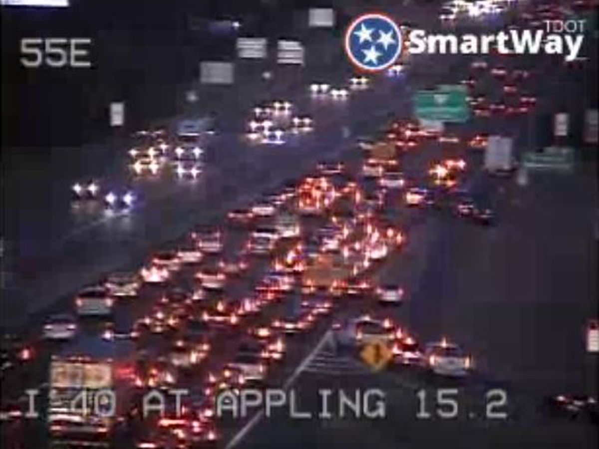 Traffic flowing again after accident caused jam on I-40 near Appling Road