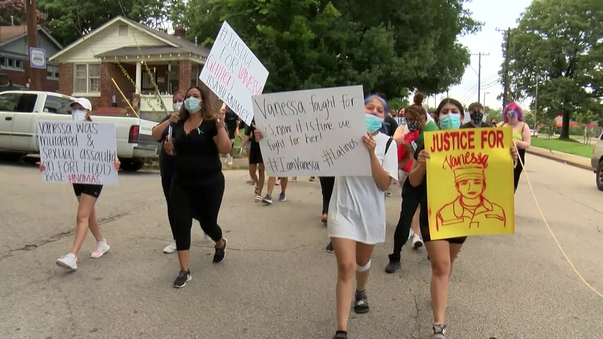 Protesters gather in honor of Vanessa Guillen