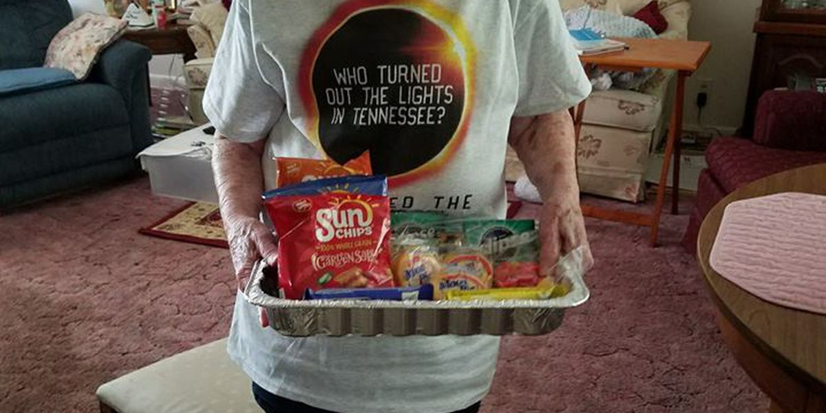 101-year-old Tennessee woman spreads eclipse excitement with Sun Chips & Eclipse chewing gum