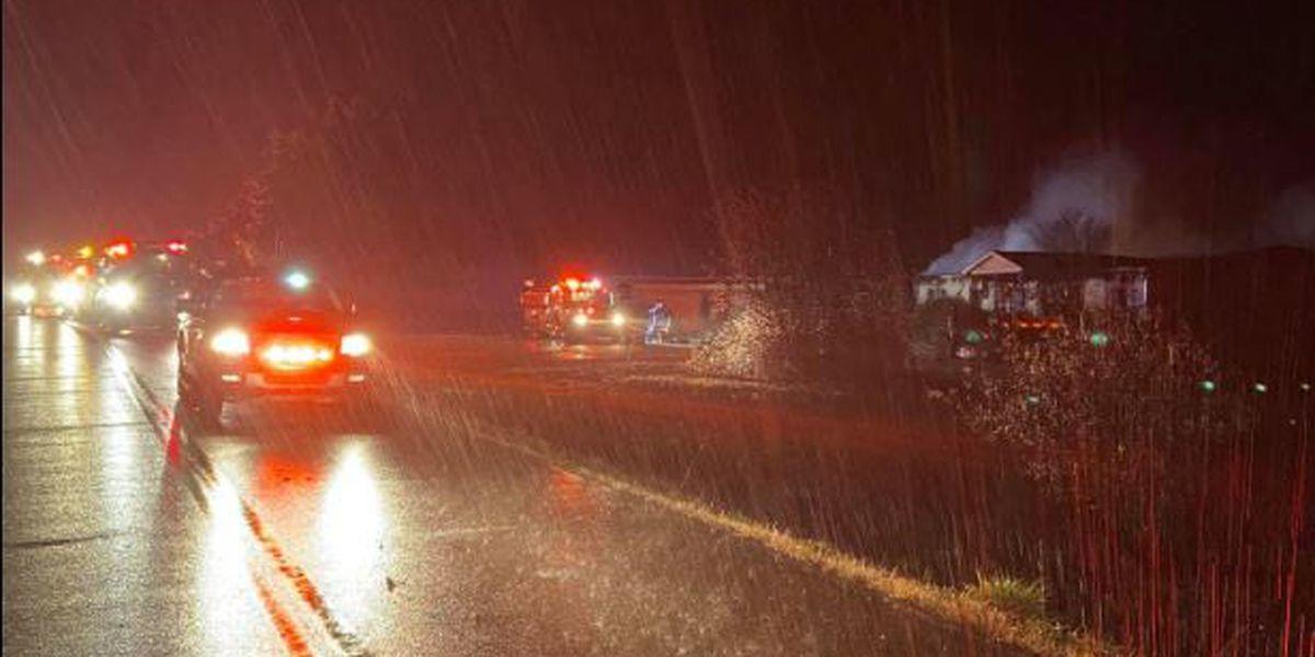 Fayette Co. firefighters fight flames in freezing rain