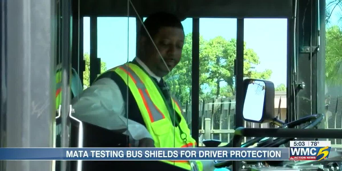 MATA installs protective shields for bus drivers