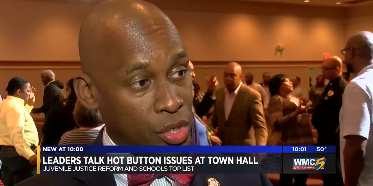 Leaders talk hot button issues at town hall