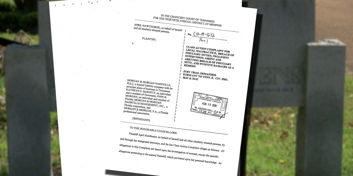Lawsuit: Attorney ignored millions of dollars in settlements from funeral home directors in Galilee Memorial Gardens trial