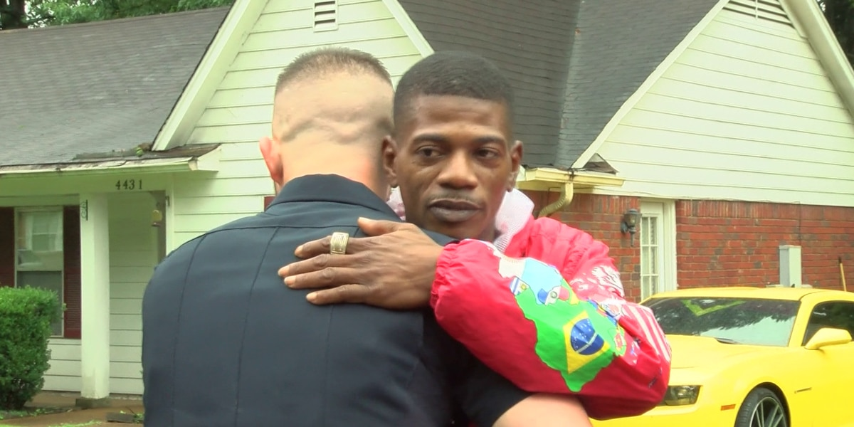 Police officer befriends shooting victim after saving his life