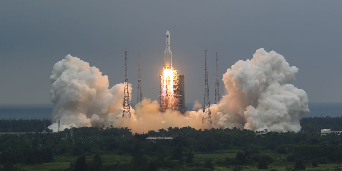 China discounts possibility of harm from falling rocket