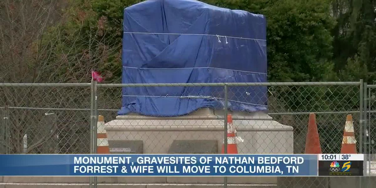 Remains of Nathan Bedford Forrest to be moved to Columbia, records show