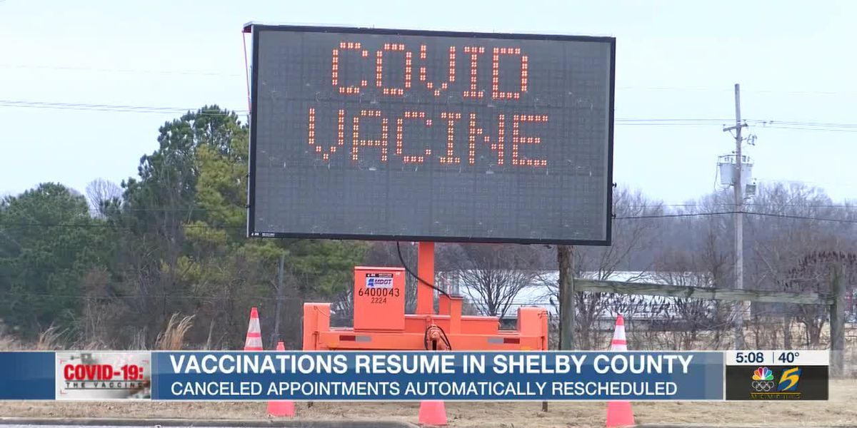 Vaccinations resume in Shelby County