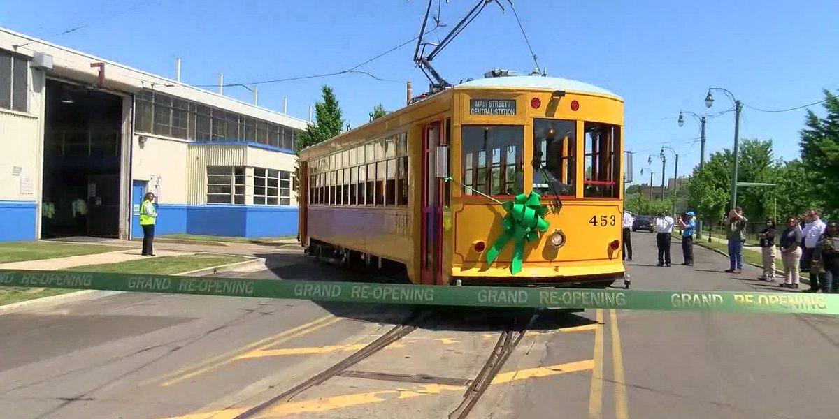 Main St. trolleys return after 4 years of repairs