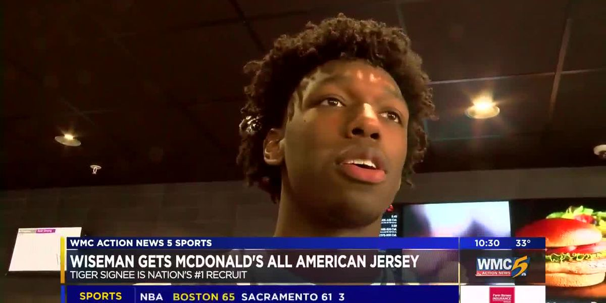 James Wiseman gets McDonald's All American jersey