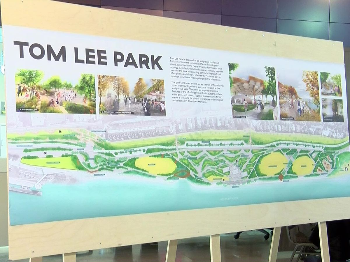Tennessee governor to give $10M for Tom Lee Park redesign