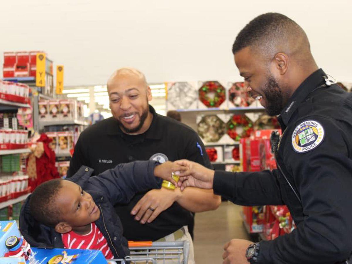 Arkansas law enforcement agencies help 100 students through Shop with a Cop