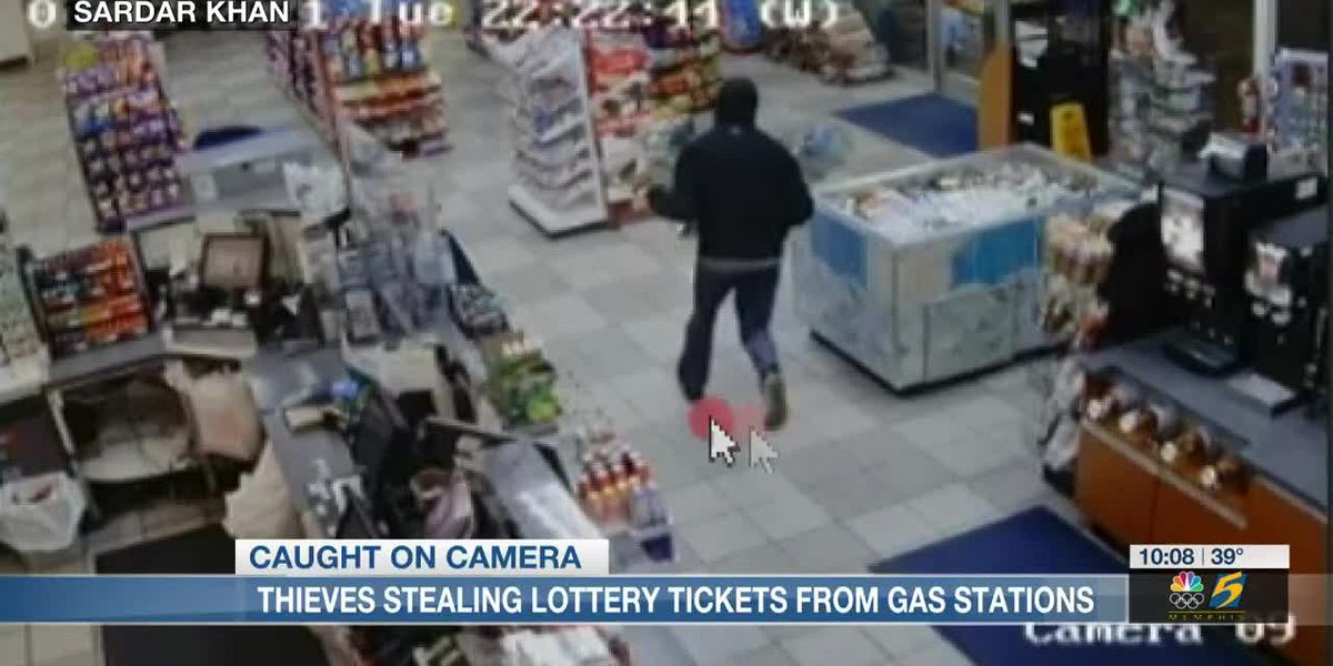 Thieves stealing lottery tickets from gas stations
