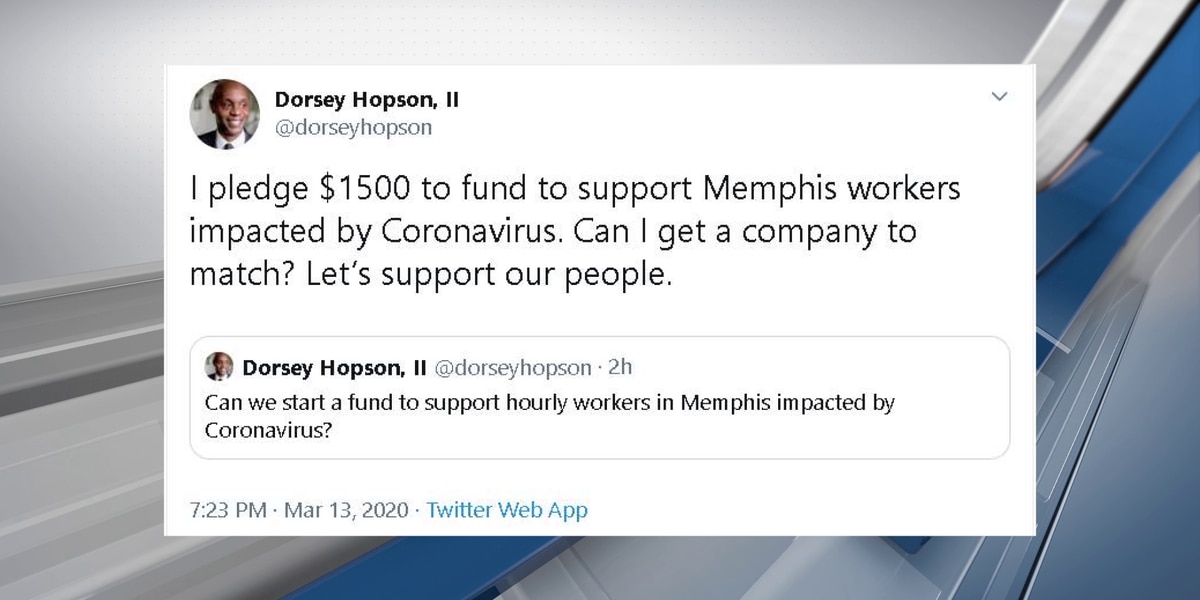 Dorsey Hopson pledges money for hourly workers impacted by the coronavirus
