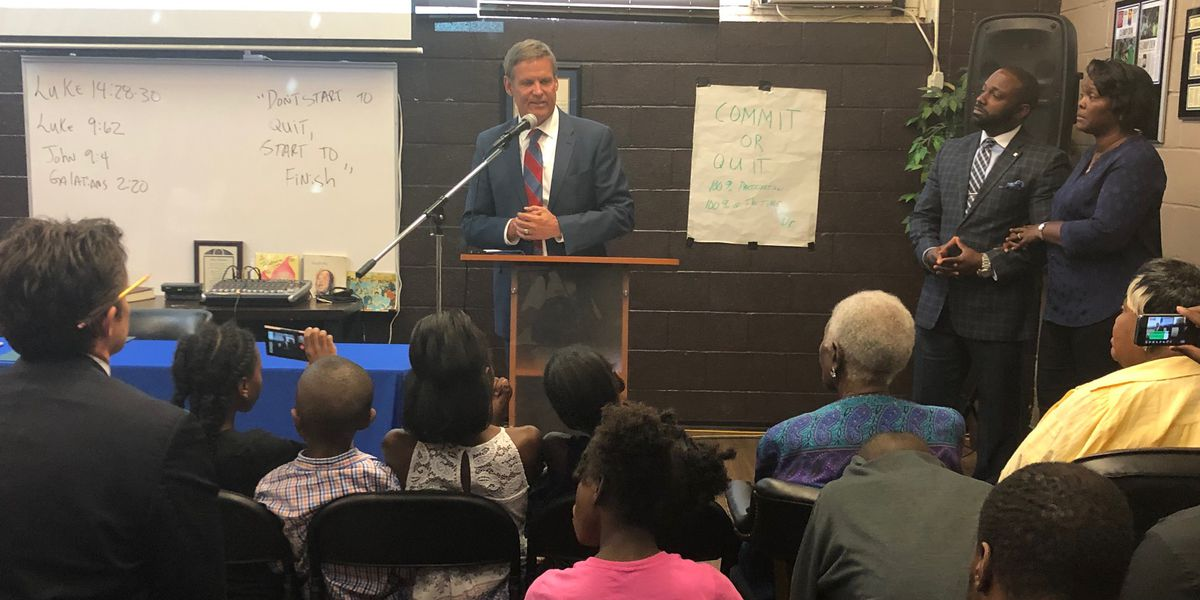 Tennessee governor pushes criminal justice reform, child literacy during Memphis visit