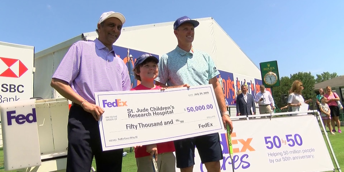 FedEx Cares donates $50K to St. Jude after special putt