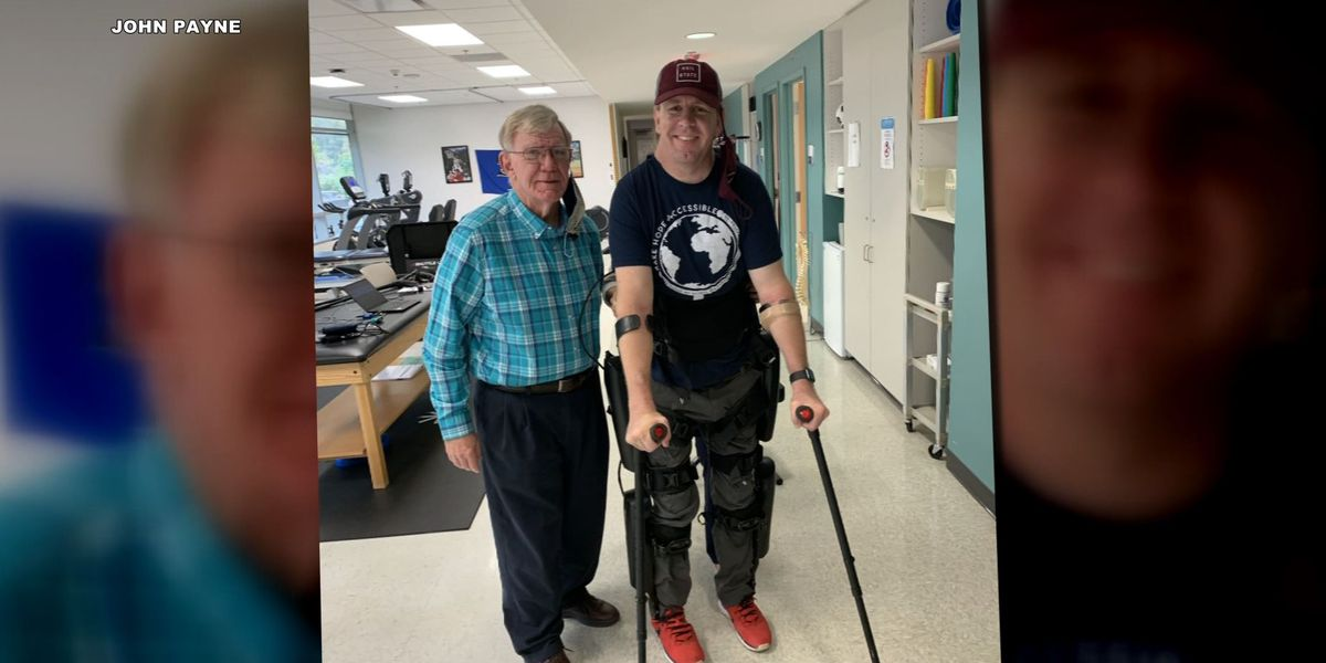 Shelby County man takes long-awaited steps after being paralyzed for over 20 years