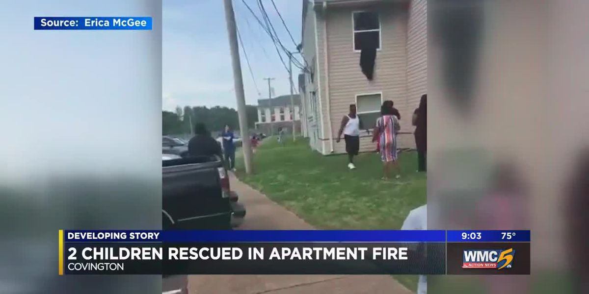 WATCH: Two infants rescued from Covington apartment fire