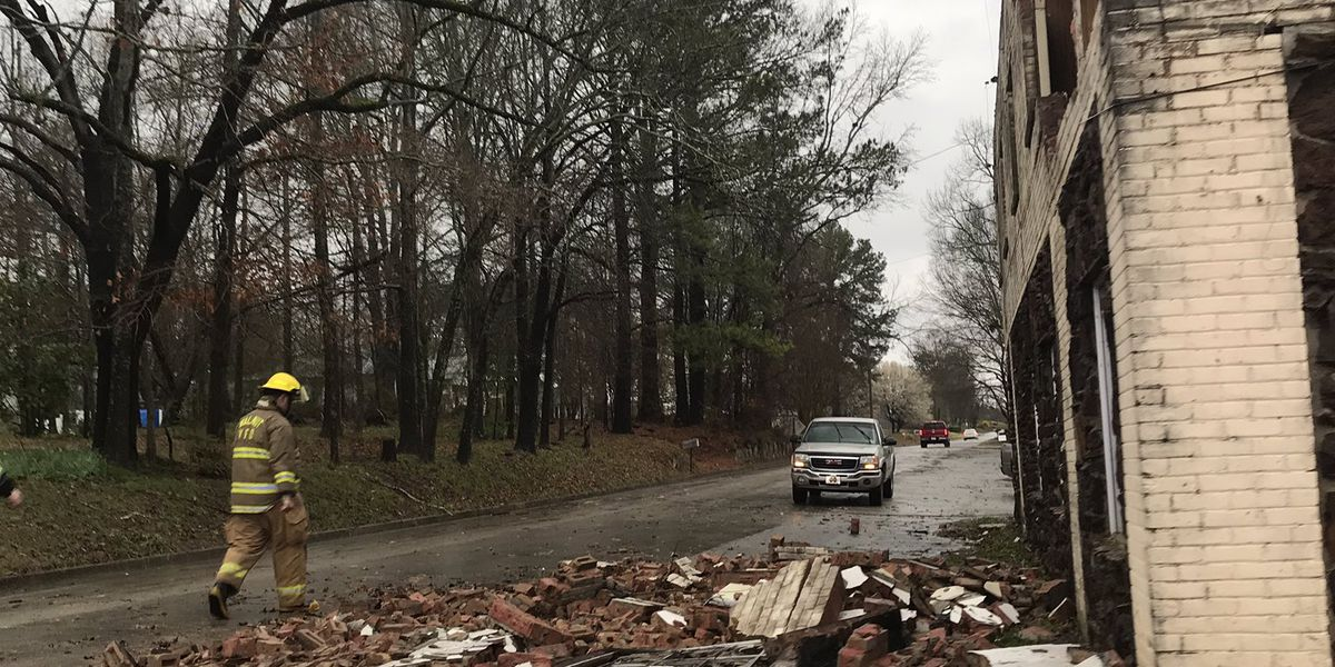 Buildings damaged after possible tornado passes through Walnut