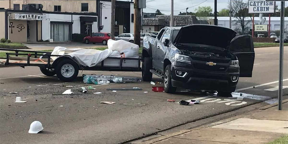 Truck struck in hit-and-run near airport