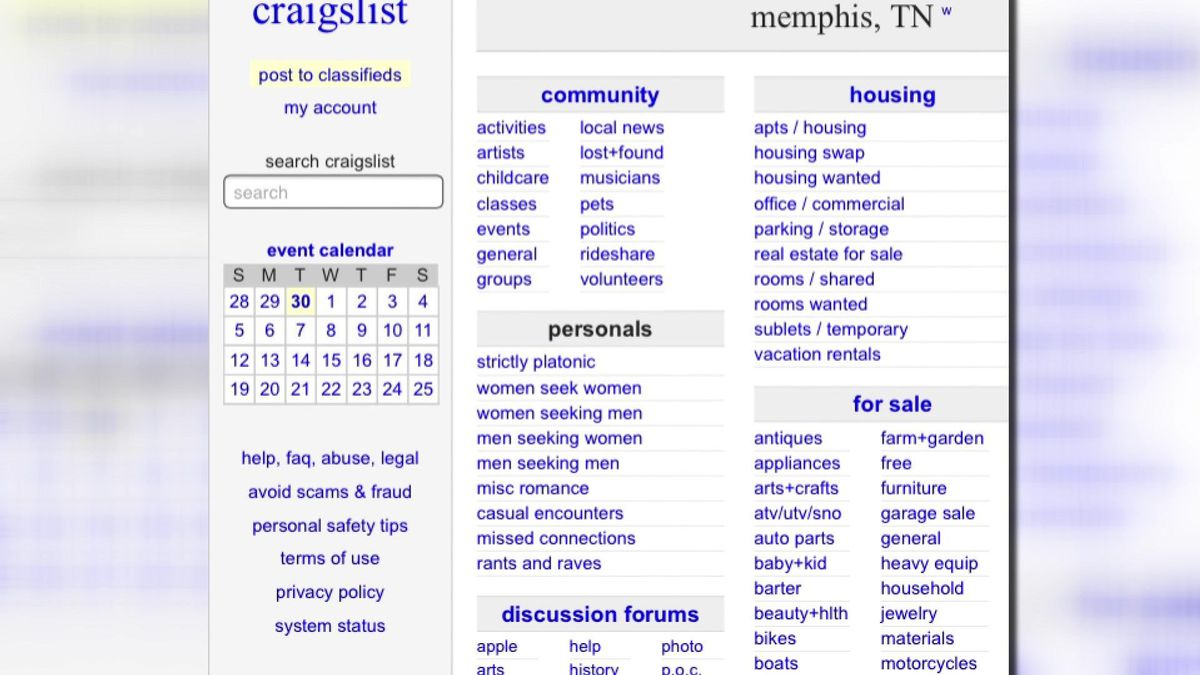 Craigslist Robber Using Classifieds To Lure Victims In Memphis