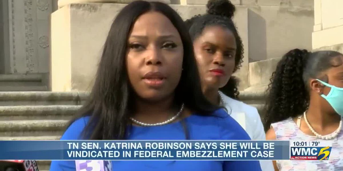 State Sen. Katrina Robinson says she will be vindicated in federal embezzlement case