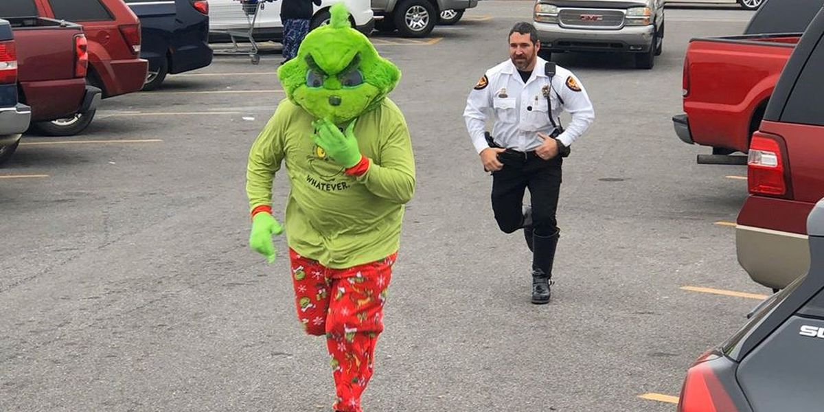 BEHIND BARS: Police arrest the Grinch before he can steal Christmas joy