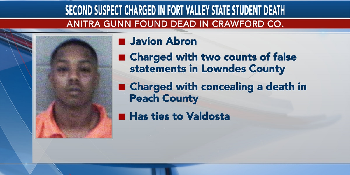 Second suspect in Fort Valley State student death charged in 2 Ga. counties