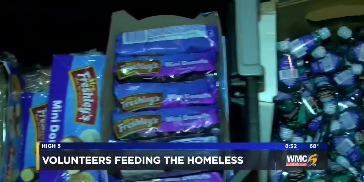 Local church feeds homeless, gives out hygiene products