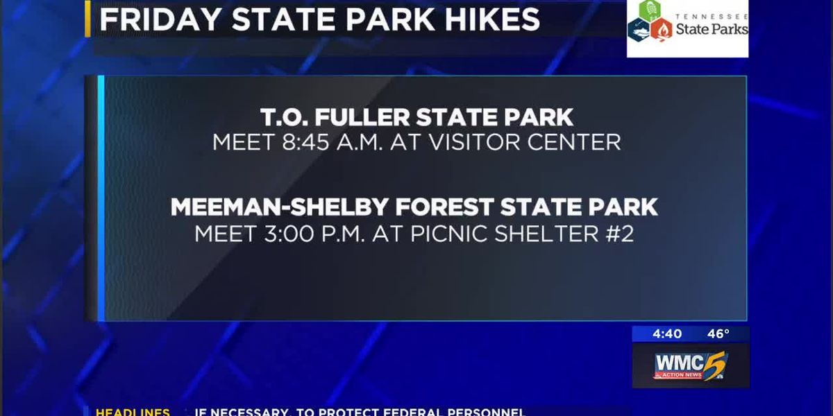 Rangers leading free guided hikes at Memphis-area parks