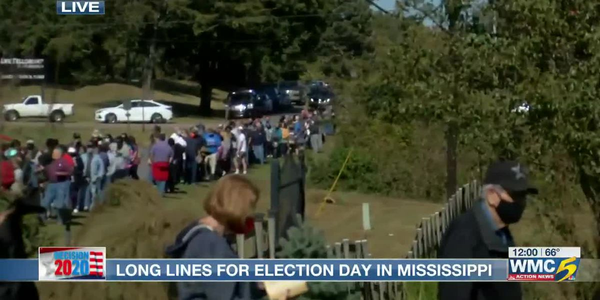 VIDEO: Mississippi voters find lengthy lines at polling places on Election Day