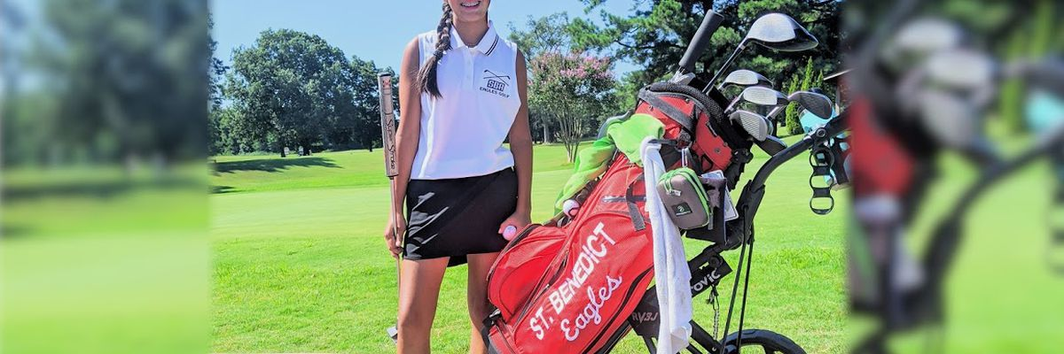 Claire Hollingsworth uses 'small but mighty' attitude to drive her golf game